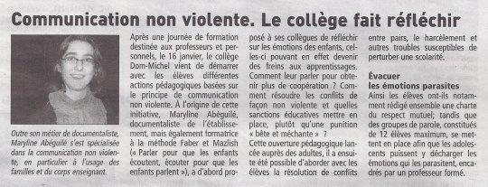 Télégramme du 30/01/2012 dans Le Conquet